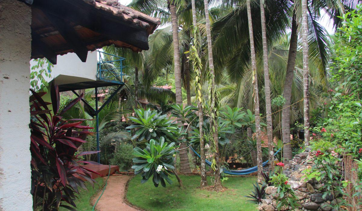 Goa holiday home: Garden View