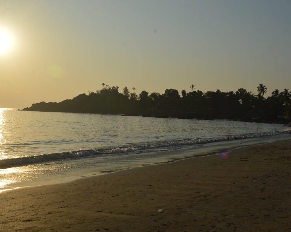 Patnem Beach at sunset