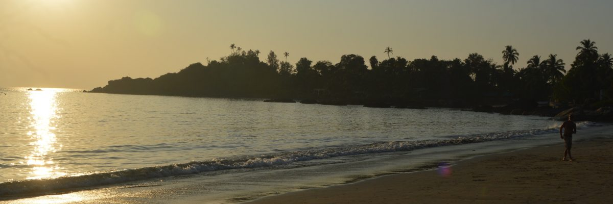 Patnem Beach at sunset